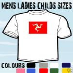ISLE OF MAN EMBLEM T-SHIRT ALL SIZES & COLOURS